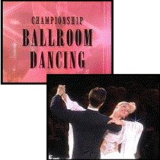 Championship Ballroom Dancing title and couple