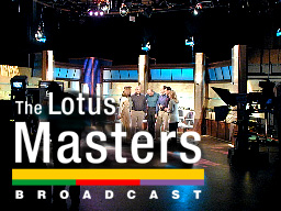 Masters Logo over rehearsal picture